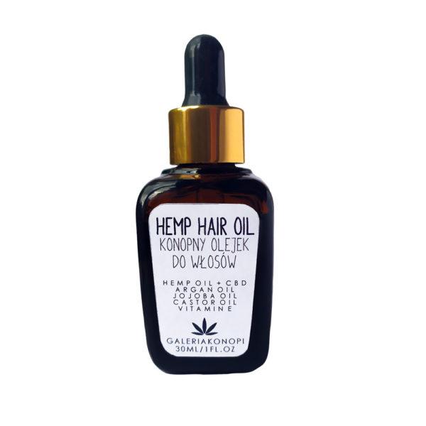 Hemp & CBD Hair Oil - Olejek konopny z CBD do pielęgnacji włosów 30ml